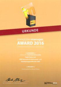 Forum Hanau Auszeichnung